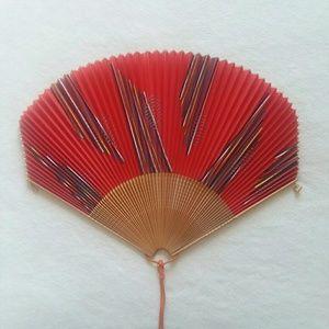 Vintage Japanese Paper Folding Hand Fan